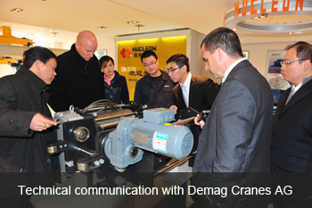 technical communication with Demag Cranes AG